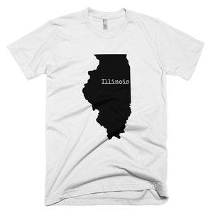 Illinois Premium Short Sleeve Unisex T-Shirt - State Name Collection (available in multiple colors)