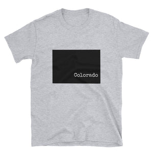 Colorado Value Short-Sleeve Unisex T-Shirt -State Name Collection (available in white or gray)