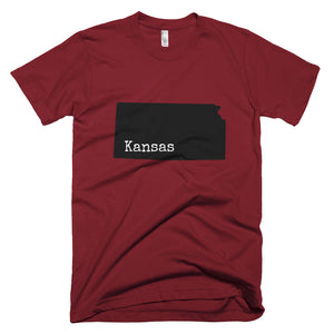 Kansas Premium Short Sleeve Unisex T-Shirt - State Name Collection (available in multiple colors)