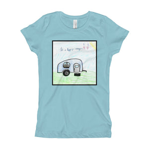 Be a Happy Camper Premium Girl's T-Shirt