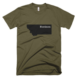 Montana Premium Short Sleeve Unisex T-Shirt - State Name Collection (available in multiple colors)