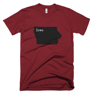 Iowa Premium Short Sleeve Unisex T-Shirt - State Name Collection (available in multiple colors)