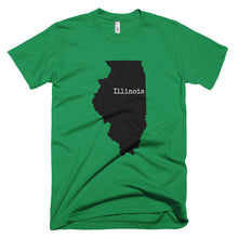 Load image into Gallery viewer, Illinois Premium Short Sleeve Unisex T-Shirt - State Name Collection (available in multiple colors)