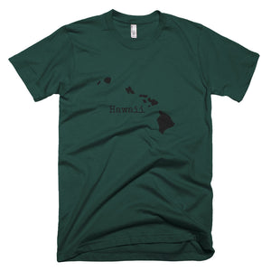 Hawaii Premium Short Sleeve Unisex T-Shirt - State Name Collection (available in multiple colors)