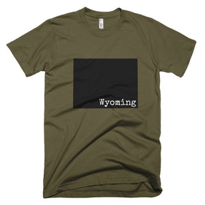 Wyoming Premium Short Sleeve Unisex T-Shirt - State Name Collection