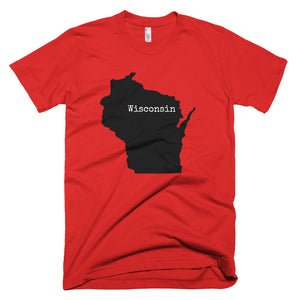 Wisconsin Premium Short Sleeved - T-Shirt State Name Collection
