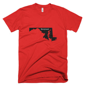 Maryland Premium Short Sleeve Unisex T-Shirt - State Name Collection (available in multiple colors)