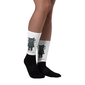 Ninja grizzly bear socks