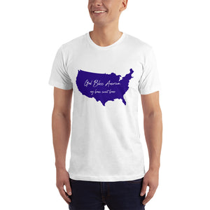 God Bless America my home sweet home premium t-shirt blue