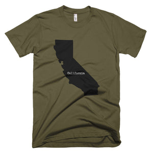 California Premium Short Sleeve Unisex T-Shirt - State Name Collection (available in multiple colors)
