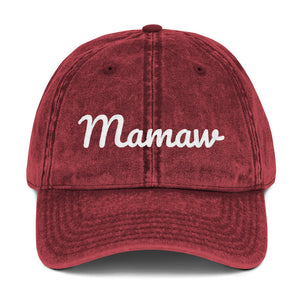 Mamaw Embroidered Vintage Cap