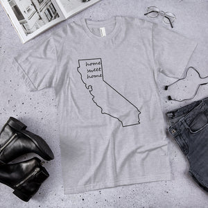 California home sweet home premium unisex t-shirt (available in multiple colors)
