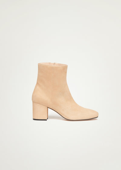 Sienna boots in beige suede in larger sizes for women in side view