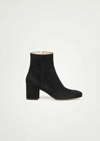 Sienna boots in black suede in larger sizes for women in side view