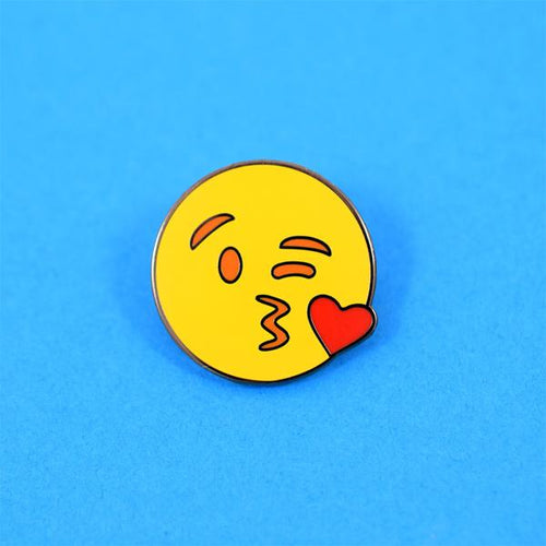 Kiss Emoji Pin