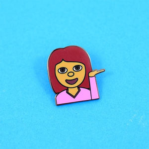 Whatever Emoji Pin