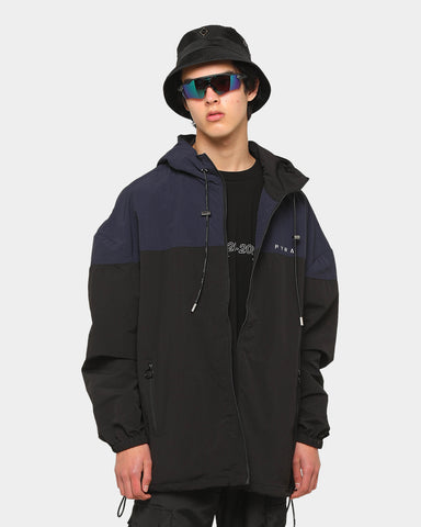 PYRA Oversized Windbreaker Black/Blue