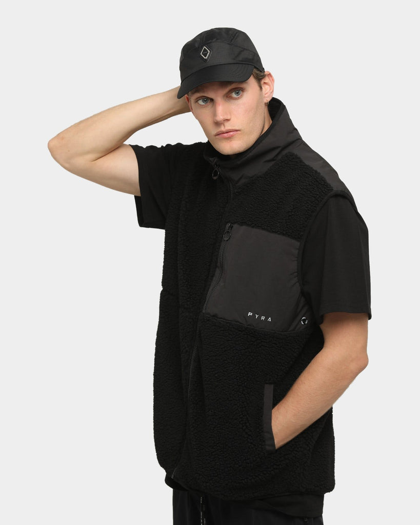 PYRA Elements Fleece Vest Black