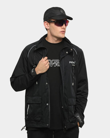 PYRA Reflective Raglan Windbreaker Black