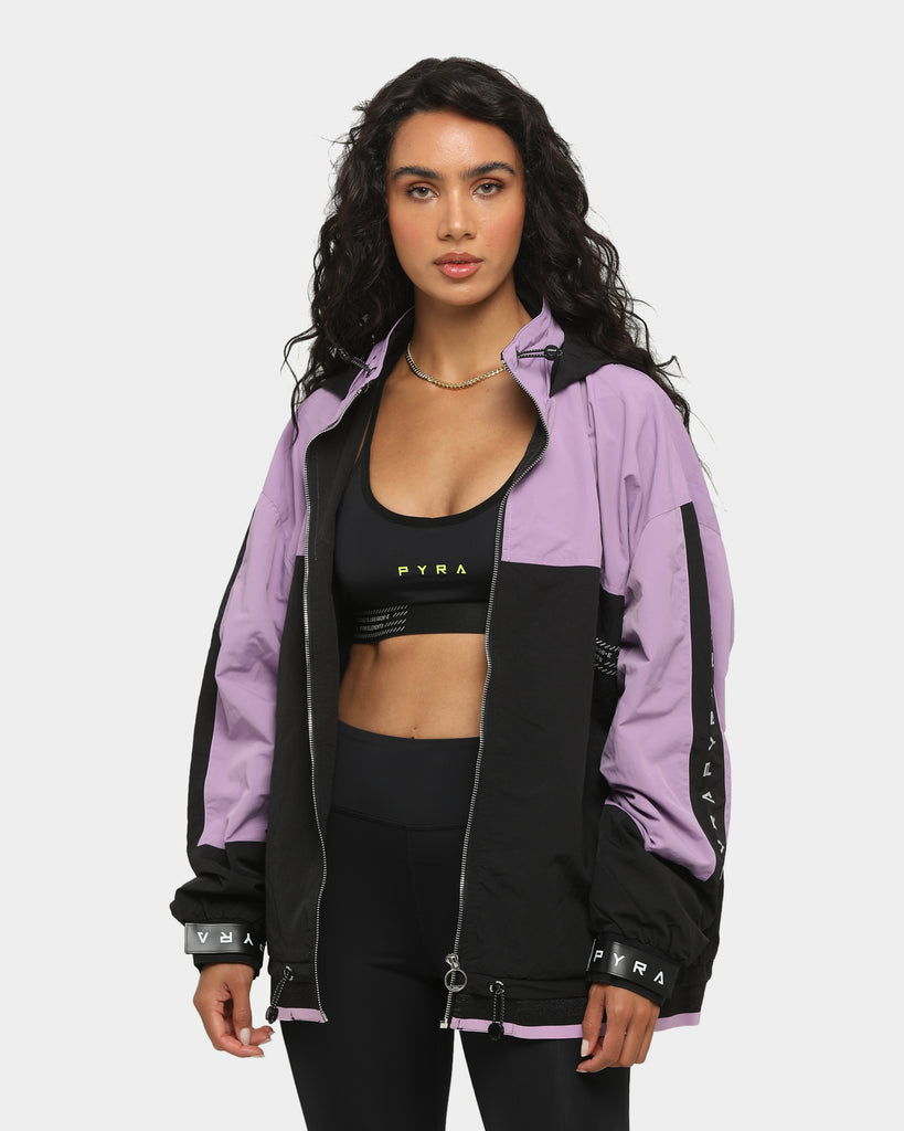 PYRA Women's Elements Eco Nylon Reflective Jacket Black/Purple