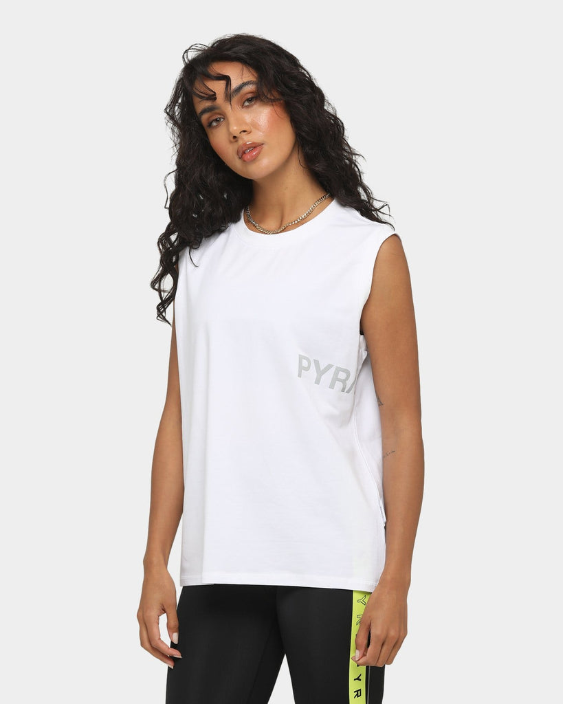 PYRA Women's Sweat Game Tank White