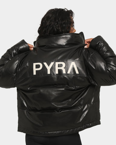 PYRA Women's Vandal Leather Puffa Black