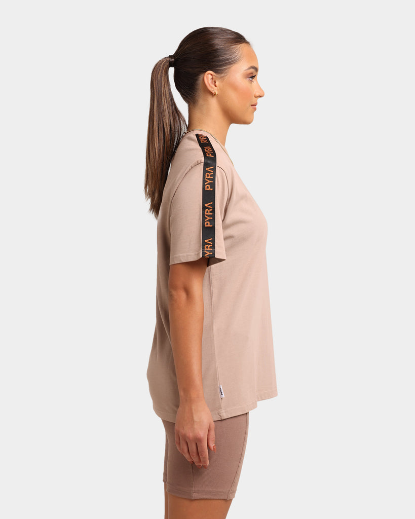 Pyra Women's Defence Oversized T-Shirt Taupe