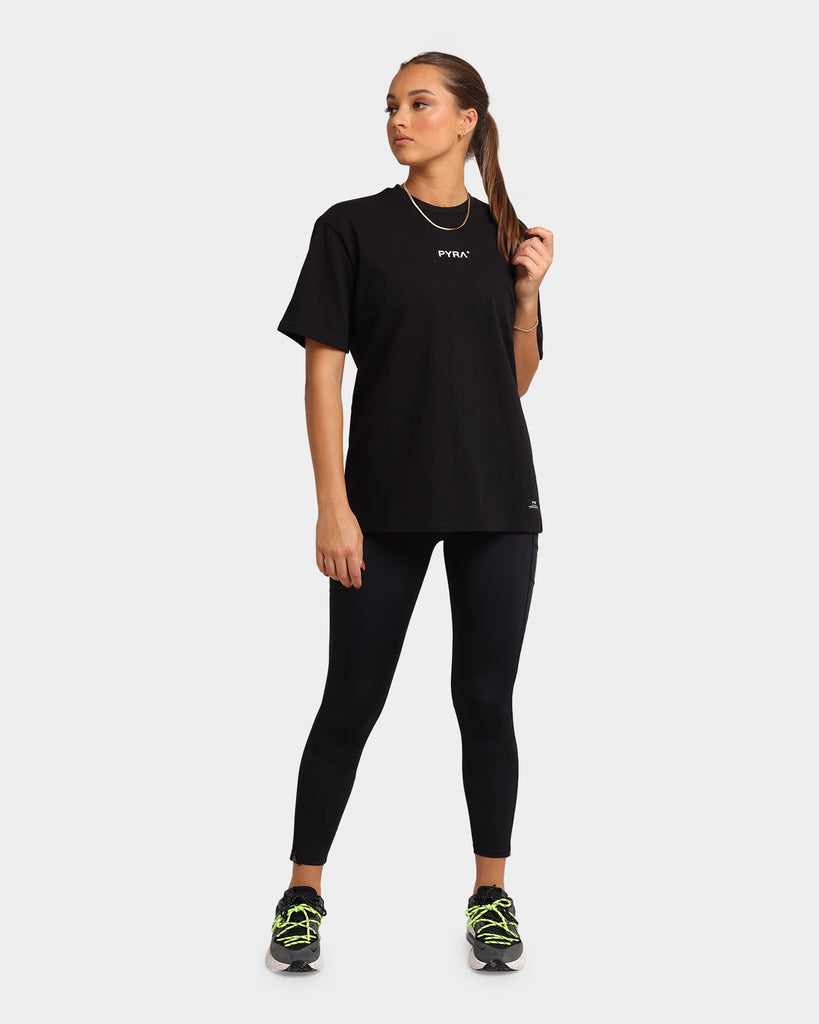 Pyra Women's Pulse Oversized T-Shirt Black