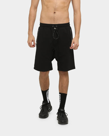 PYRA Fleece Track Shorts Black