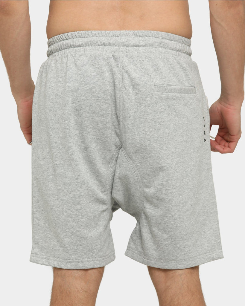 PYRA Fleece Track Shorts Grey Marle