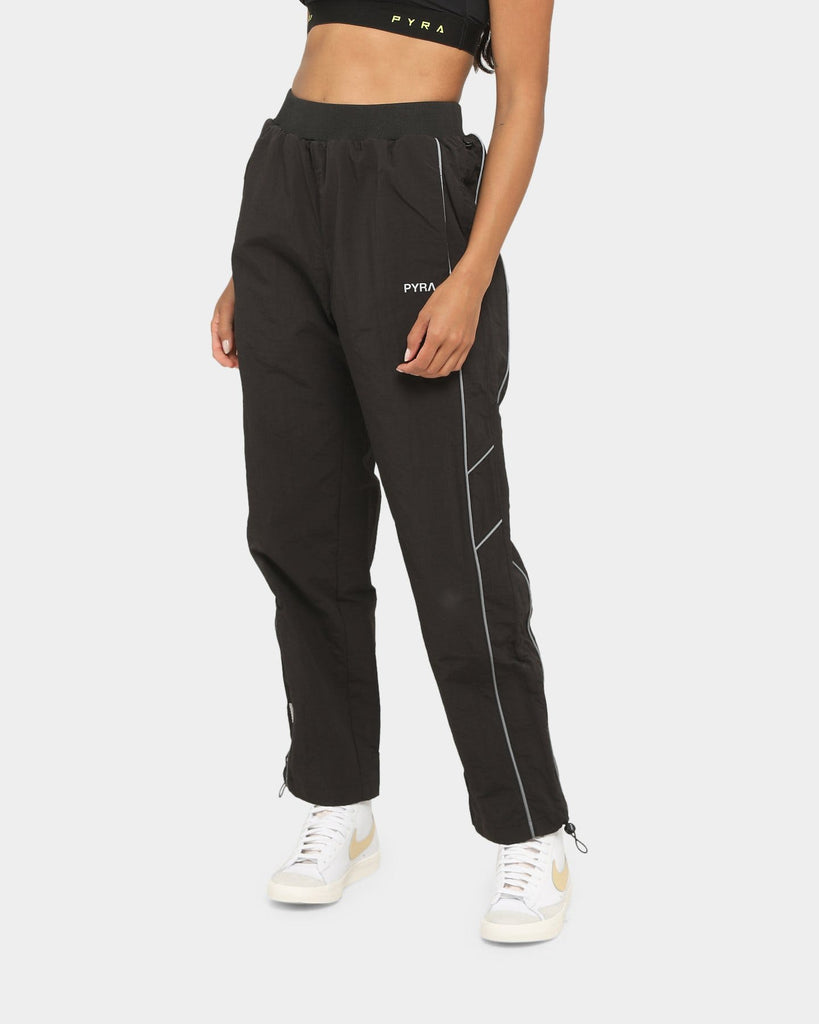 PYRA Women's Nylon Reflective Pant Black