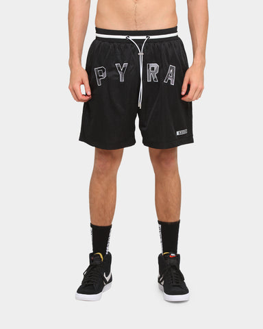 PYRA College Mesh Shorts Black