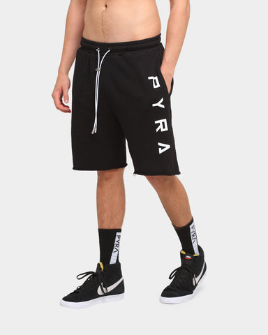 PYRA Raw Sweat Shorts Black