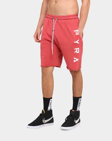 PYRA Raw Sweat Shorts Mineral Red