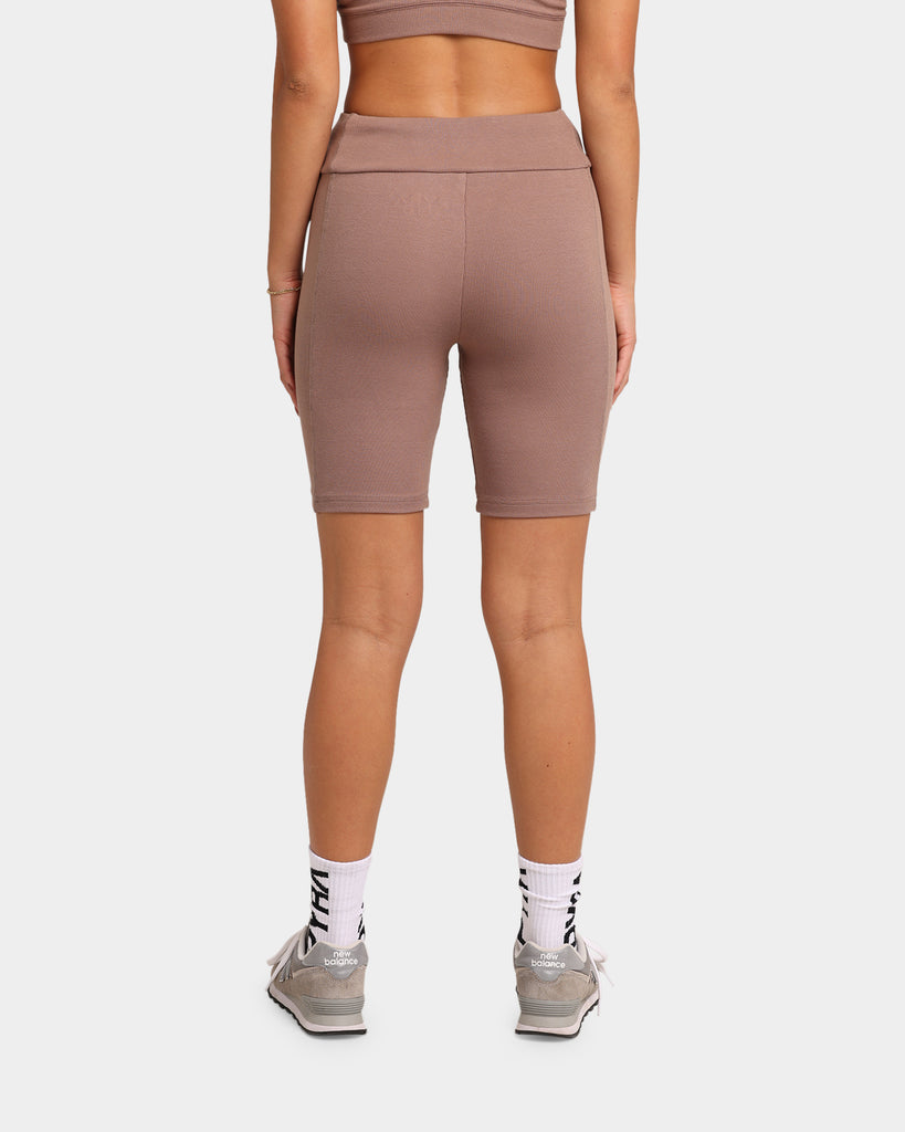 Pyra Women's Ribbed Bike Short Taupe