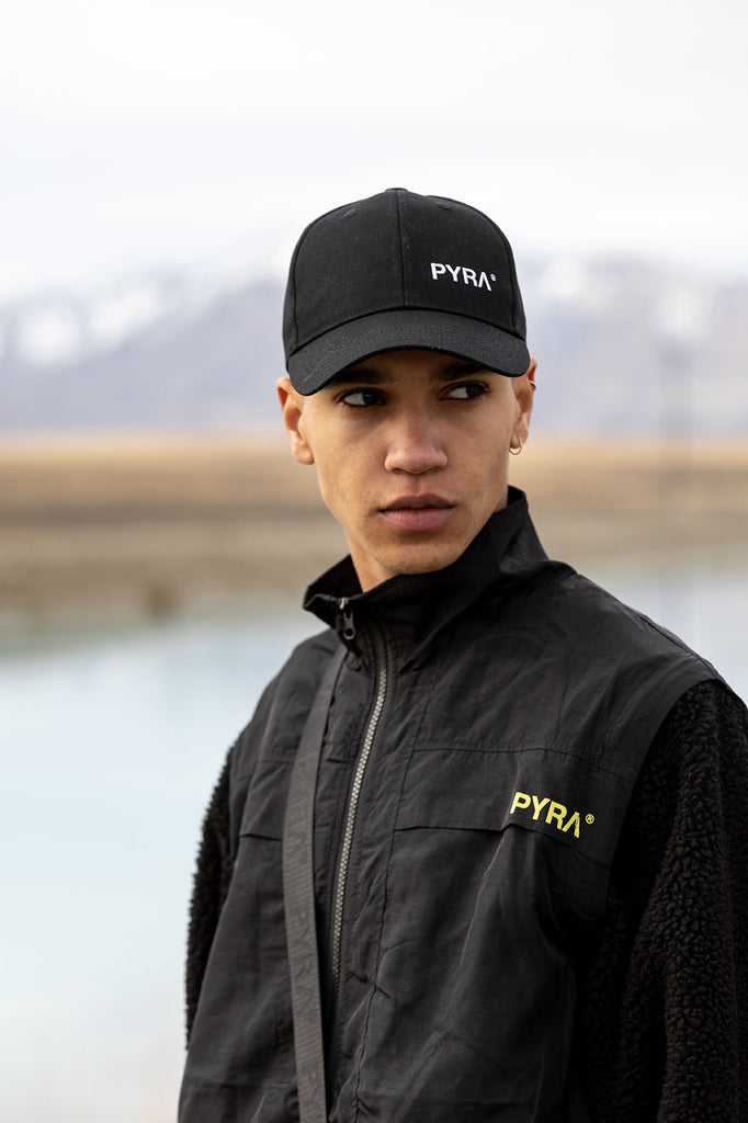 PYRA Logo Baseball 6P Hat Black