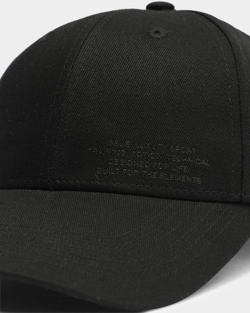 PYRA Utility 6 Panel Baseball Hat Black