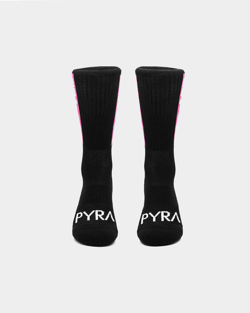 PYRA Men's Team Socks Black/Pink