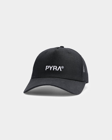 PYRA Core Trucker Hat Black
