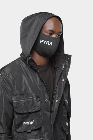 PYRA Men's Neoprene Guard Face Mask Black