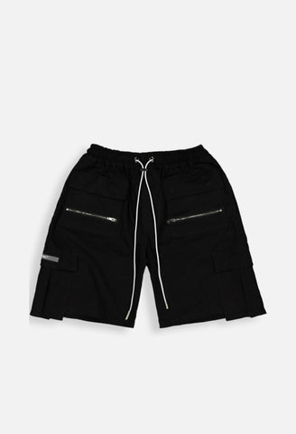 PYRA Dropped Cargo Short Black