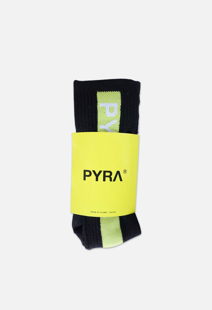 PYRA Team Sock Black Neon