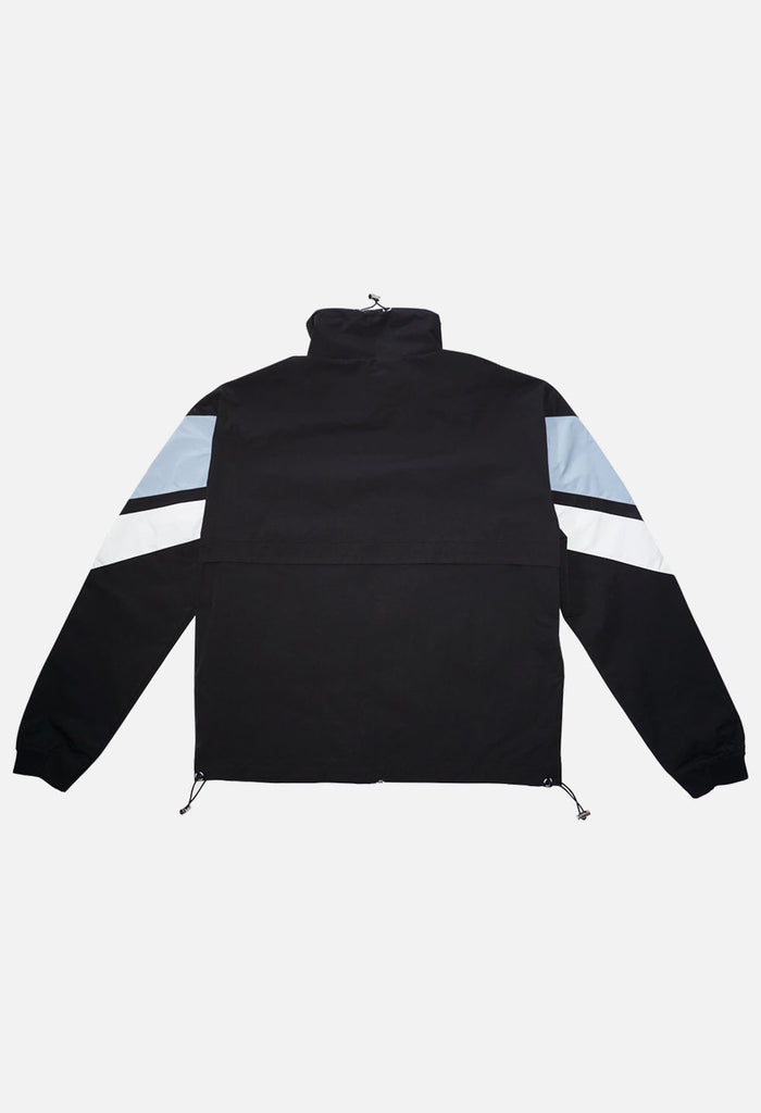 STRIPE NYLON WINDBREAKER- PACKABLE