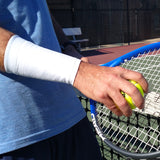 TOPSPIN White 6 Inch Tennis Wrist Sleeves