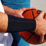BASELINE Black Wrist 6 Inch Basketball Recovery Sleeves