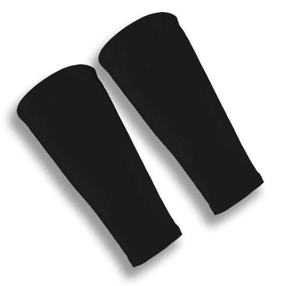 Black Volleyball Forearm 9 Inch Protection Sleeves