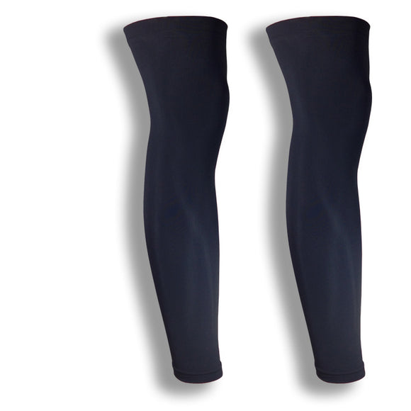 Black Running Leg Compression Sleeves