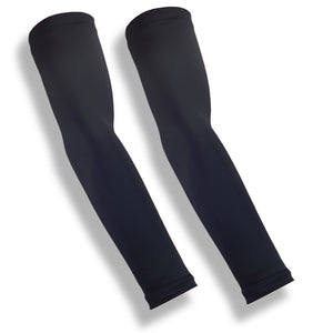 Black Running Full Arm Compression Sleeves