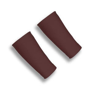BASELINE Brown 6 Inch Basketball Wrist Compression Sleeves