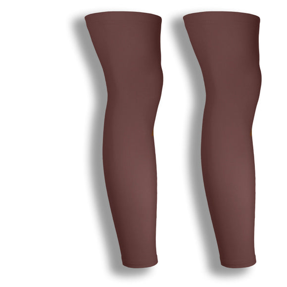 iM Sports CIRCUIT Brown Cycling Leg Sleeves